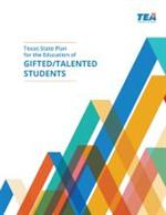 Cover page for the Texas State Plan for the Education of Gifted and Talented Students