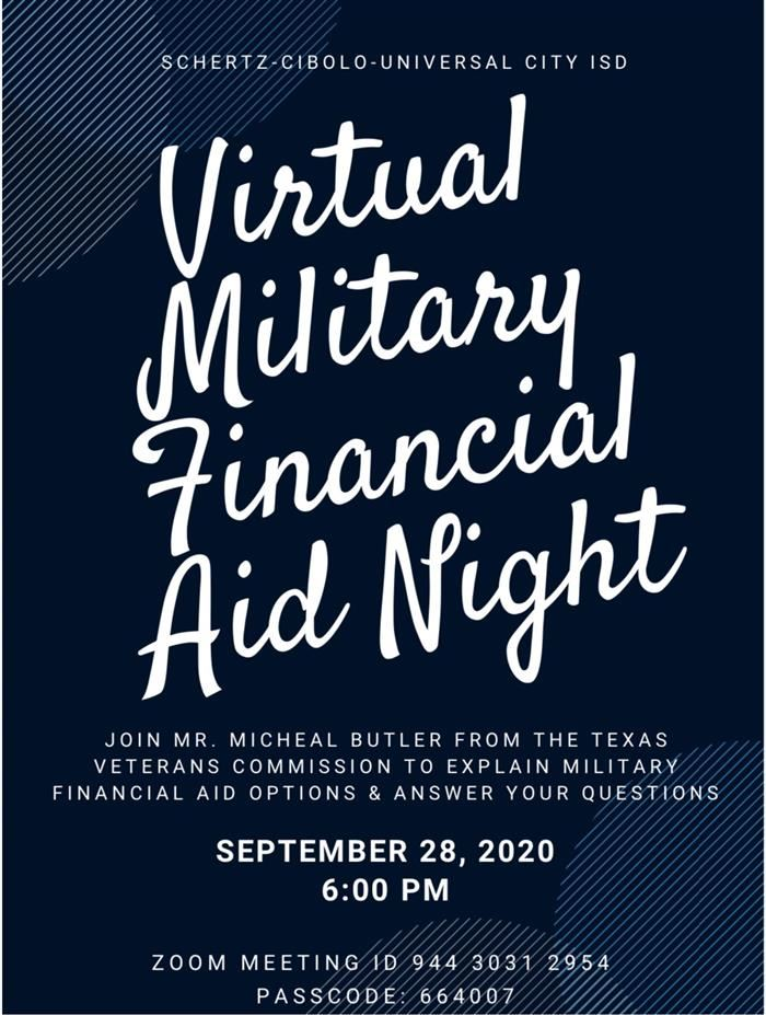 Virtual Military Financial Aid Night
