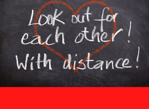 Heart Distance Image on Chalkboard