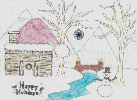 Dobie JHS student artwork is SCUC Holiday Card