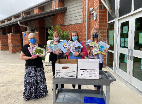 Wiederstein ES receives large book donation