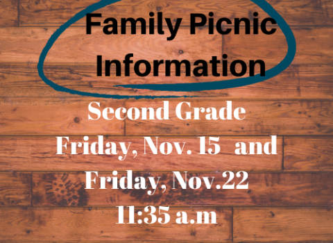 2nd Grade Family Picnic